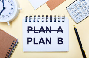 Plan B on Desk Notepad
